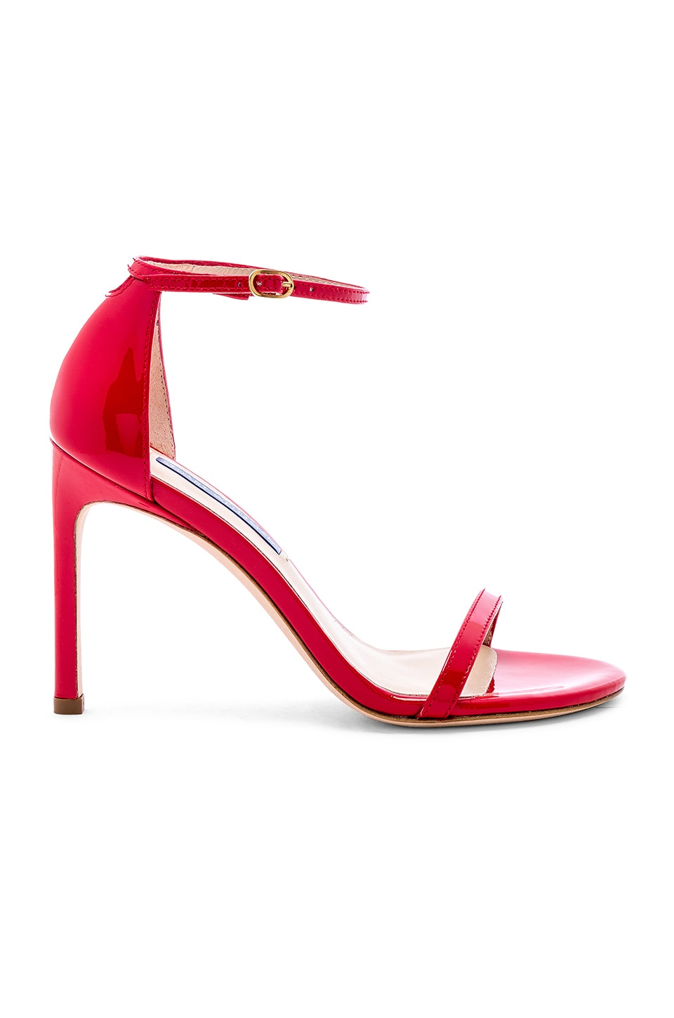 Stuart Weitzman Nudistsong Heel in Follow Me Red
