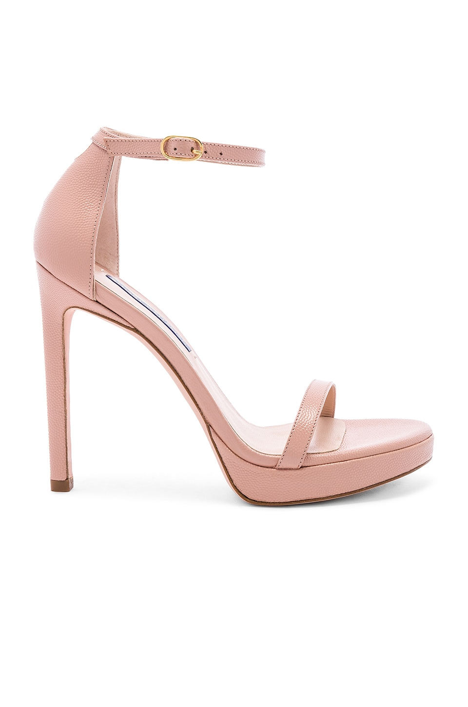 Stuart Weitzman Nudist Disco Heel in Buff Blush