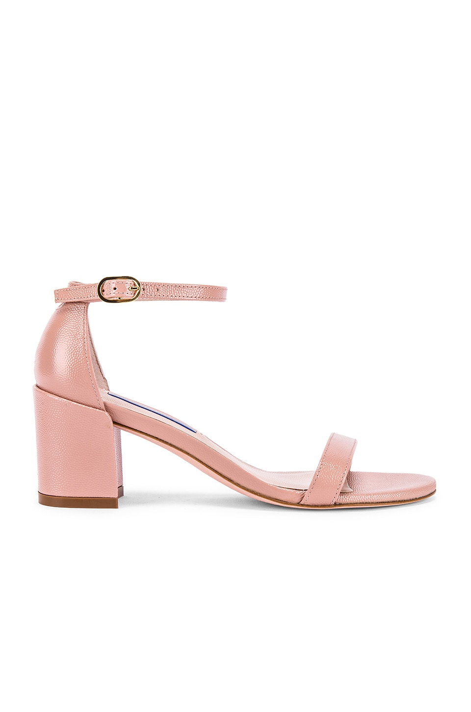 Stuart Weitzman Simple Sandal in Buff Blush