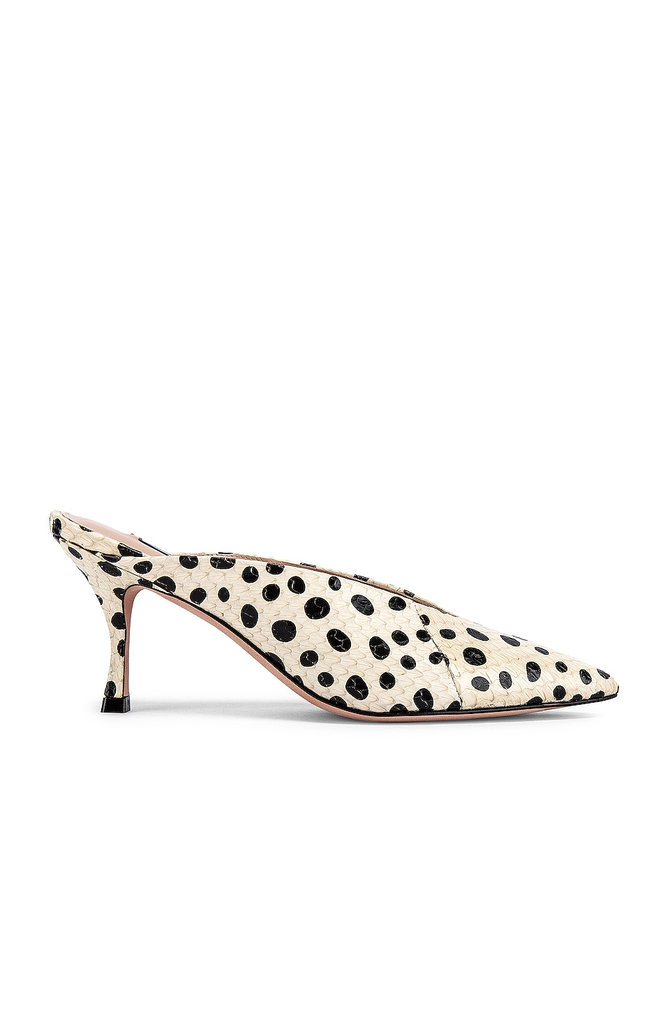 Stuart Weitzman Lulah Mule in Cream Dot
