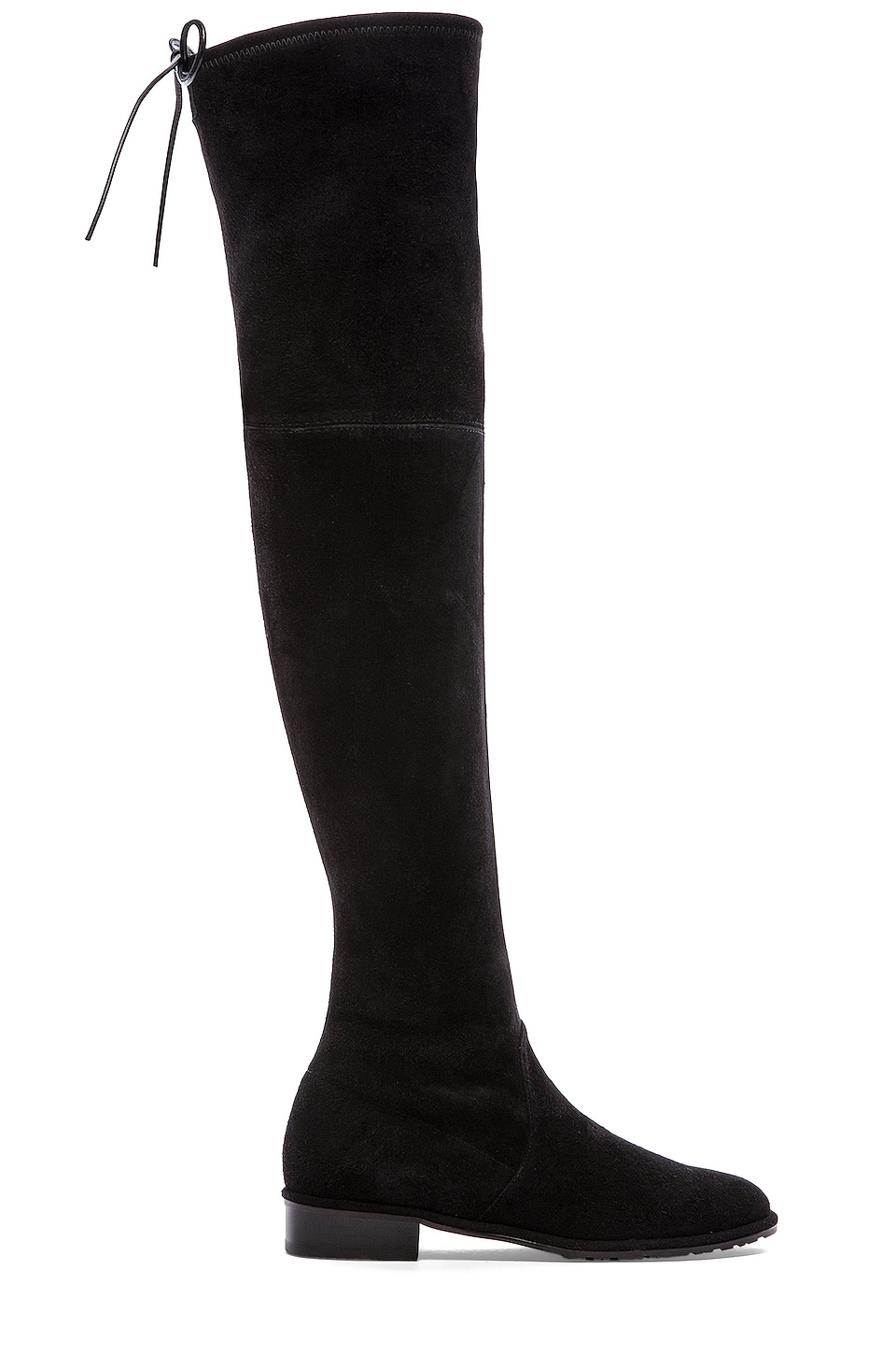 Stuart Weitzman Women's Lowland Stretch Suede Over-The-Knee Boots In Black Suede