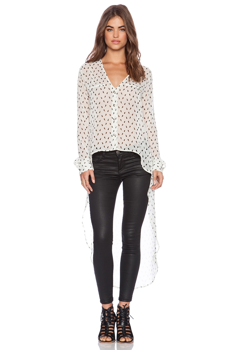 Stillwater The Maxi Blouse in DWC White