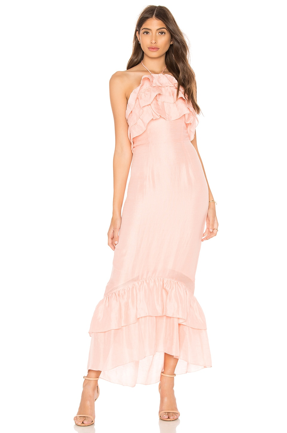 Suboo Real Love Maxi Dress in Peach