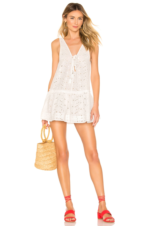 Suboo Azalea Drop Waist Dress in White