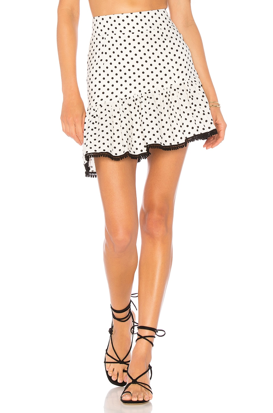 Suboo Over & Over Frill Mini Skirt in Spot