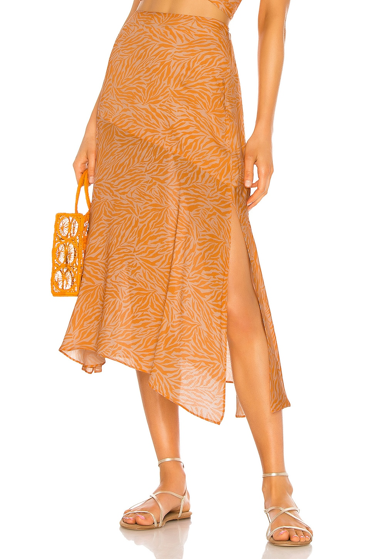 Suboo Sienna Midi Skirt in Orange