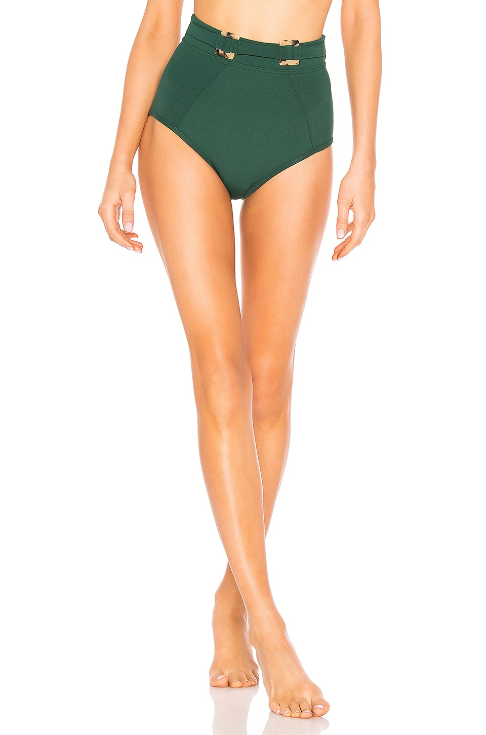 Suboo Jungalow Belted High Waisted Bikini Bottoms in Jungalow