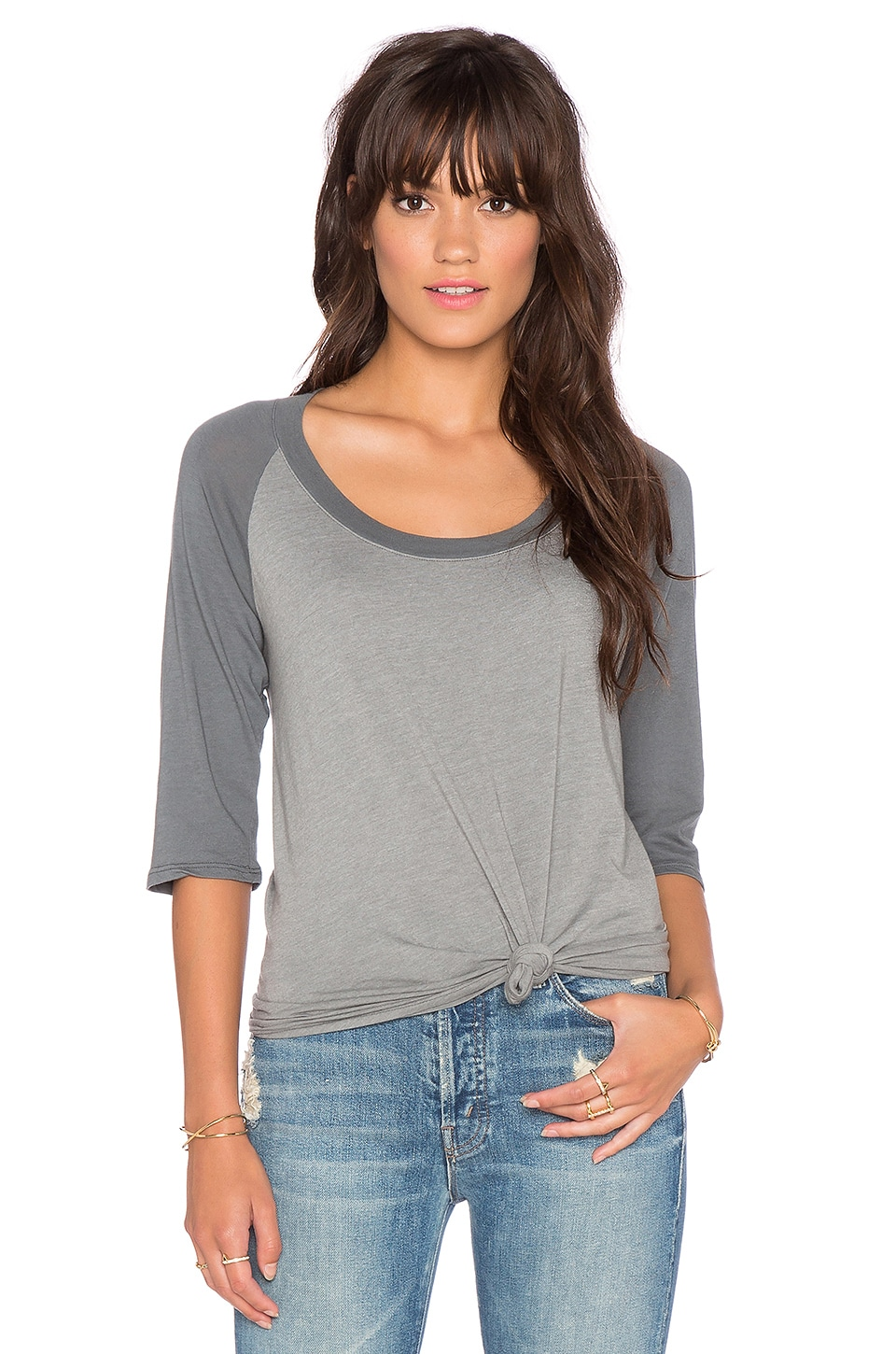 Sub_Urban RIOT Loose Baseball Tee in Faded Grey
