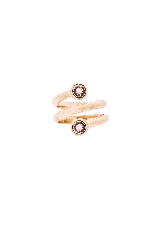 SunaharA Hapi Ring in Gold & Vintage Rose