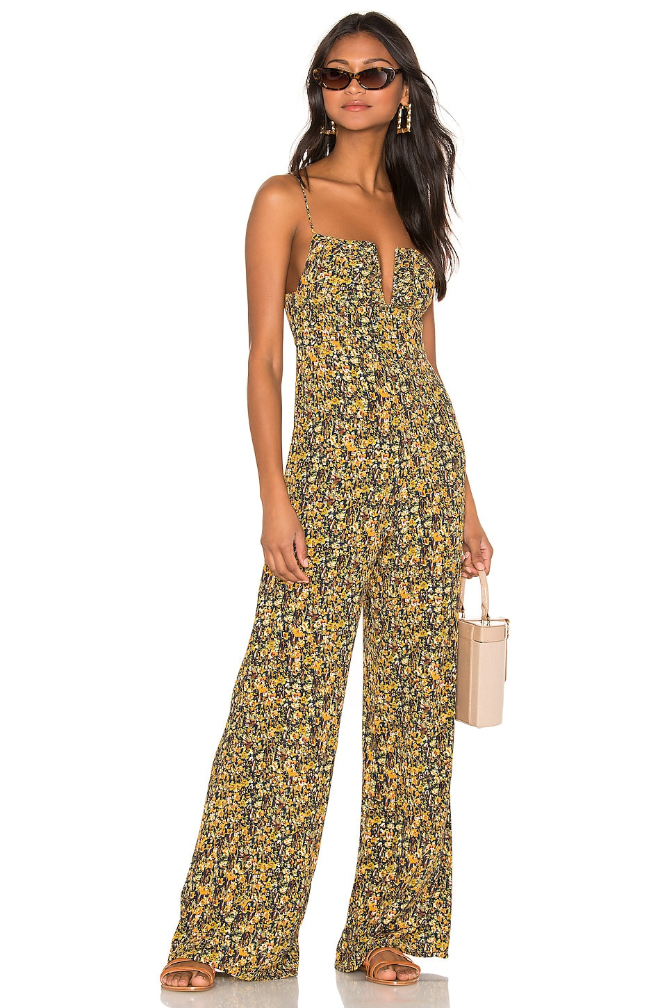 Sun Becomes Her Supernatural Diva Jumpsuit in Black Rock Desert Floral