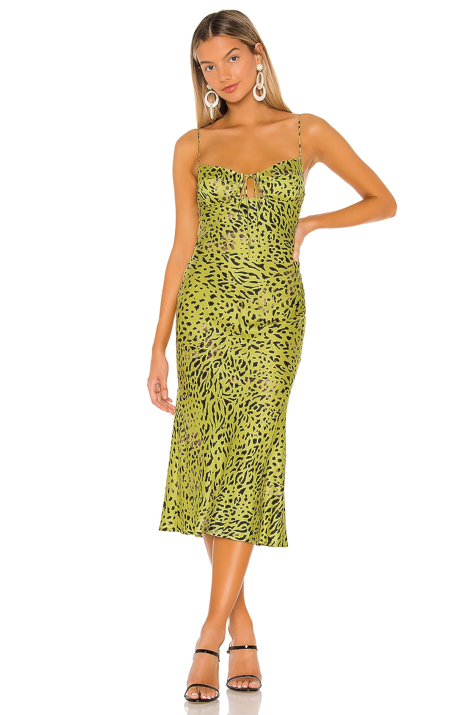 Sun Becomes Her Corset Midi Dress in Sunglow Cheetah