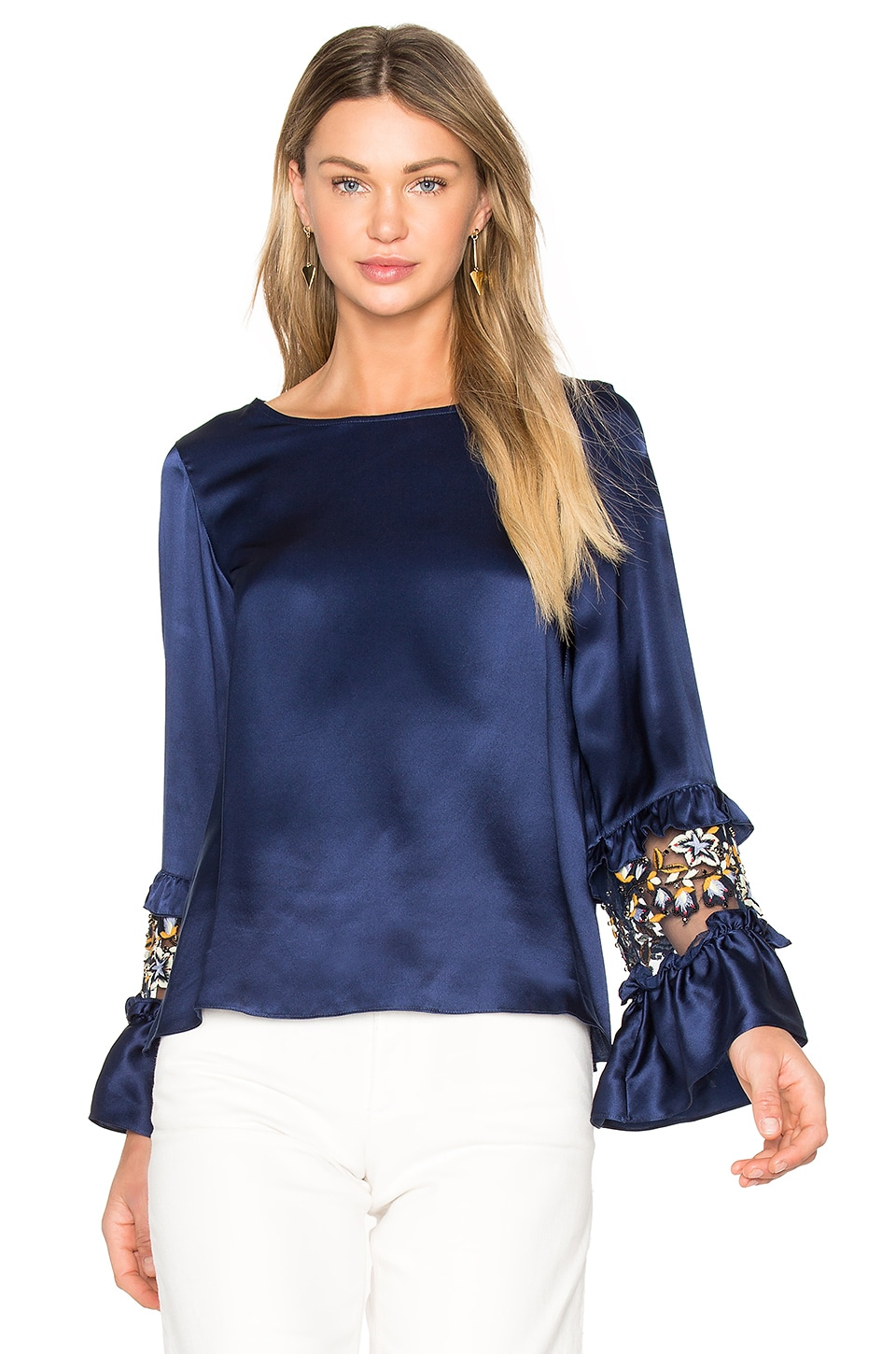 Ruffle Sleeve Top by Suno