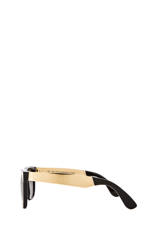 Retrosuperfuture Francis Basic Wayfarer in Black/Gold
