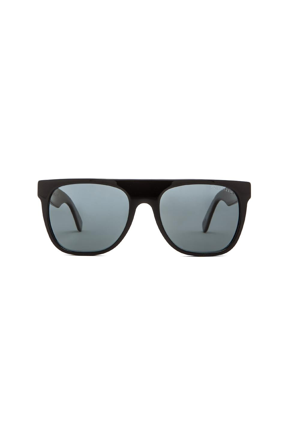 Retrosuperfuture Flat Top Polarized in Black