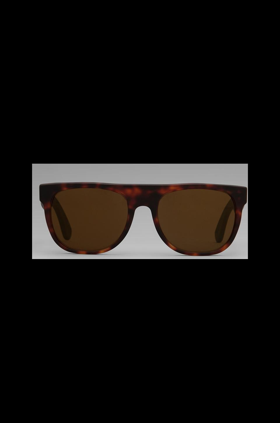 Retrosuperfuture The Admiral Flat Top Small in Reddish Havanna Matte/Reddish Havanna Matee