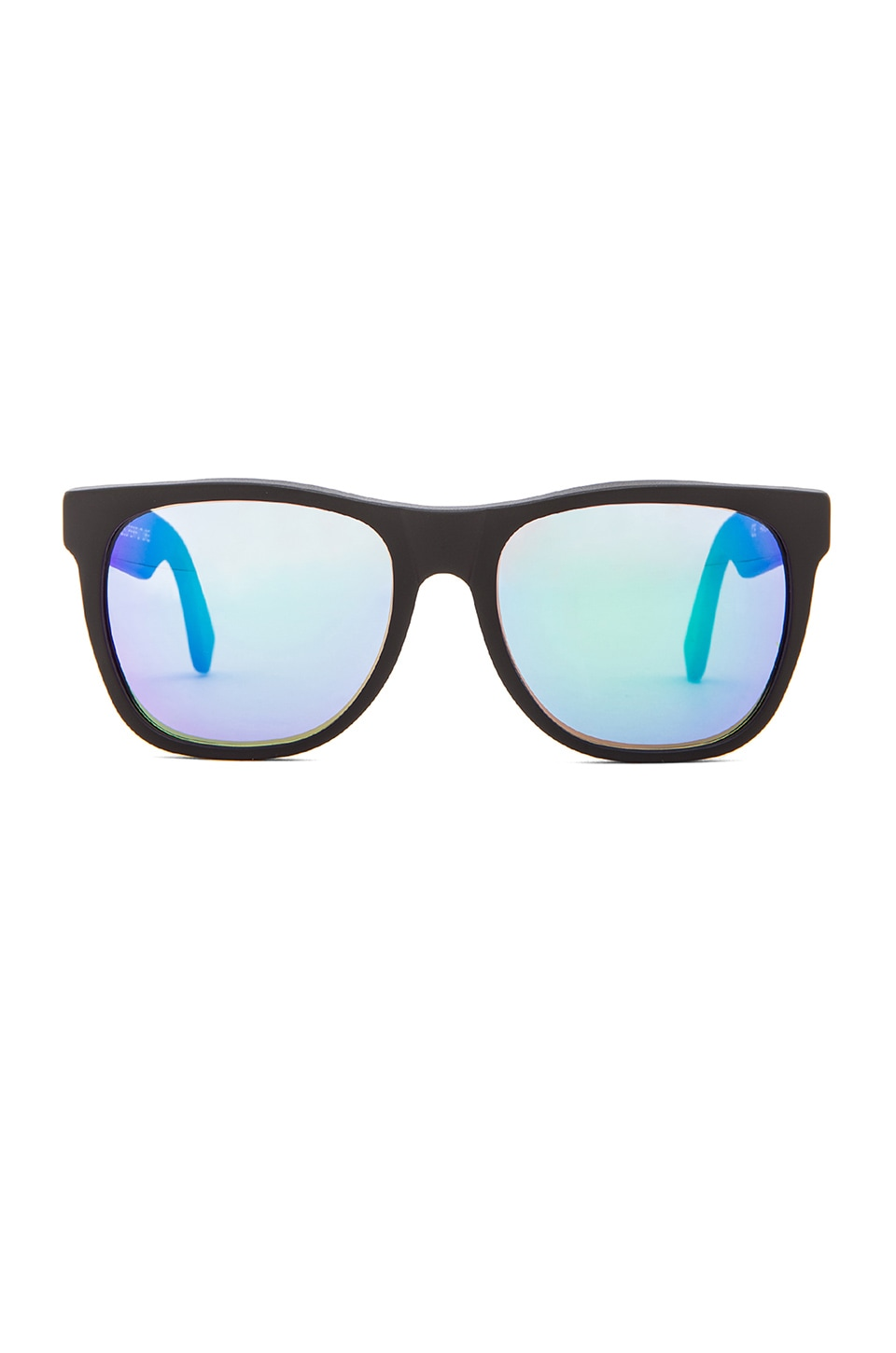 Retrosuperfuture Basic Wayfarer in Black w. Rainbow Lens