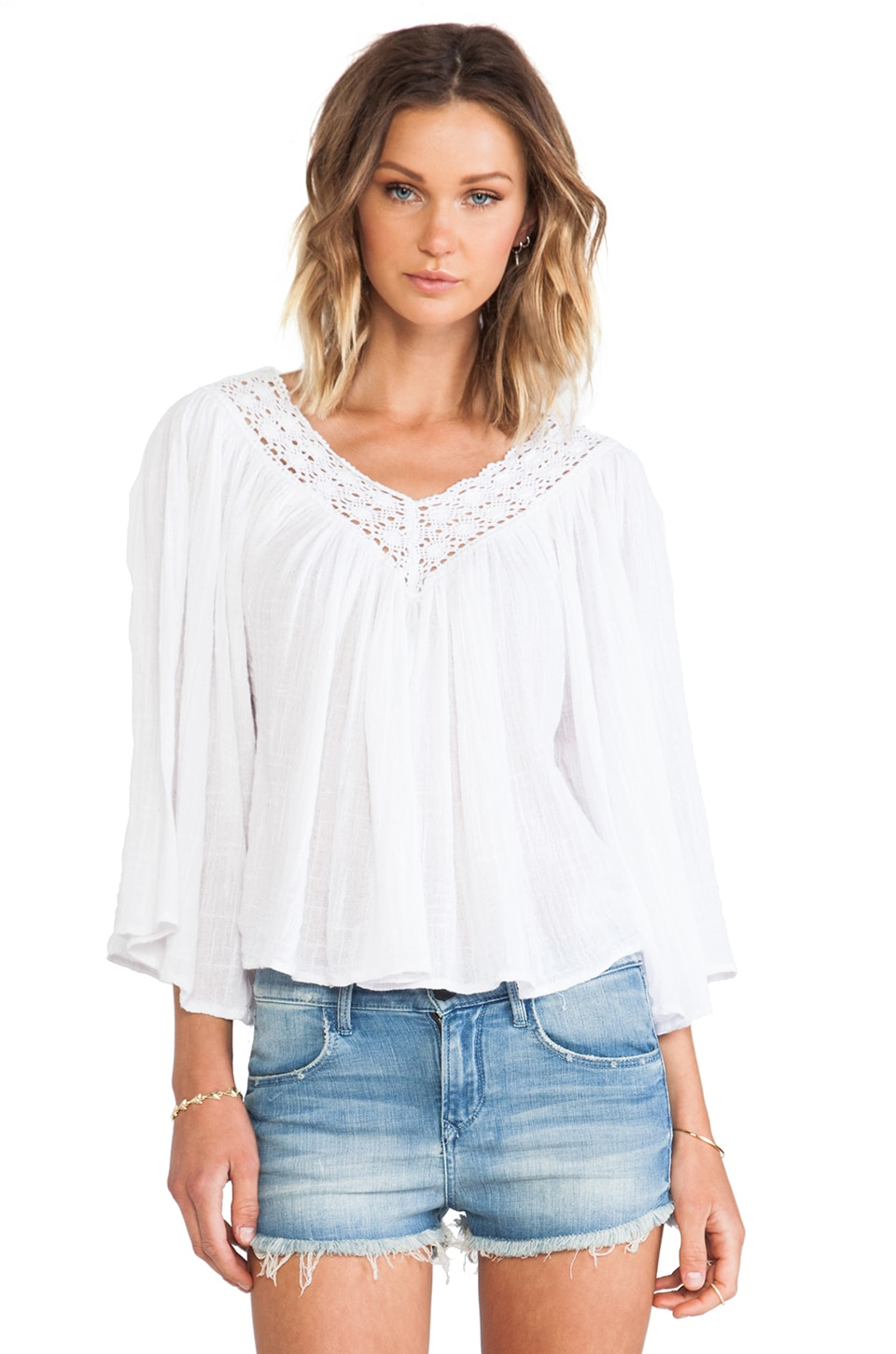 Surf Gypsy Blouse in White