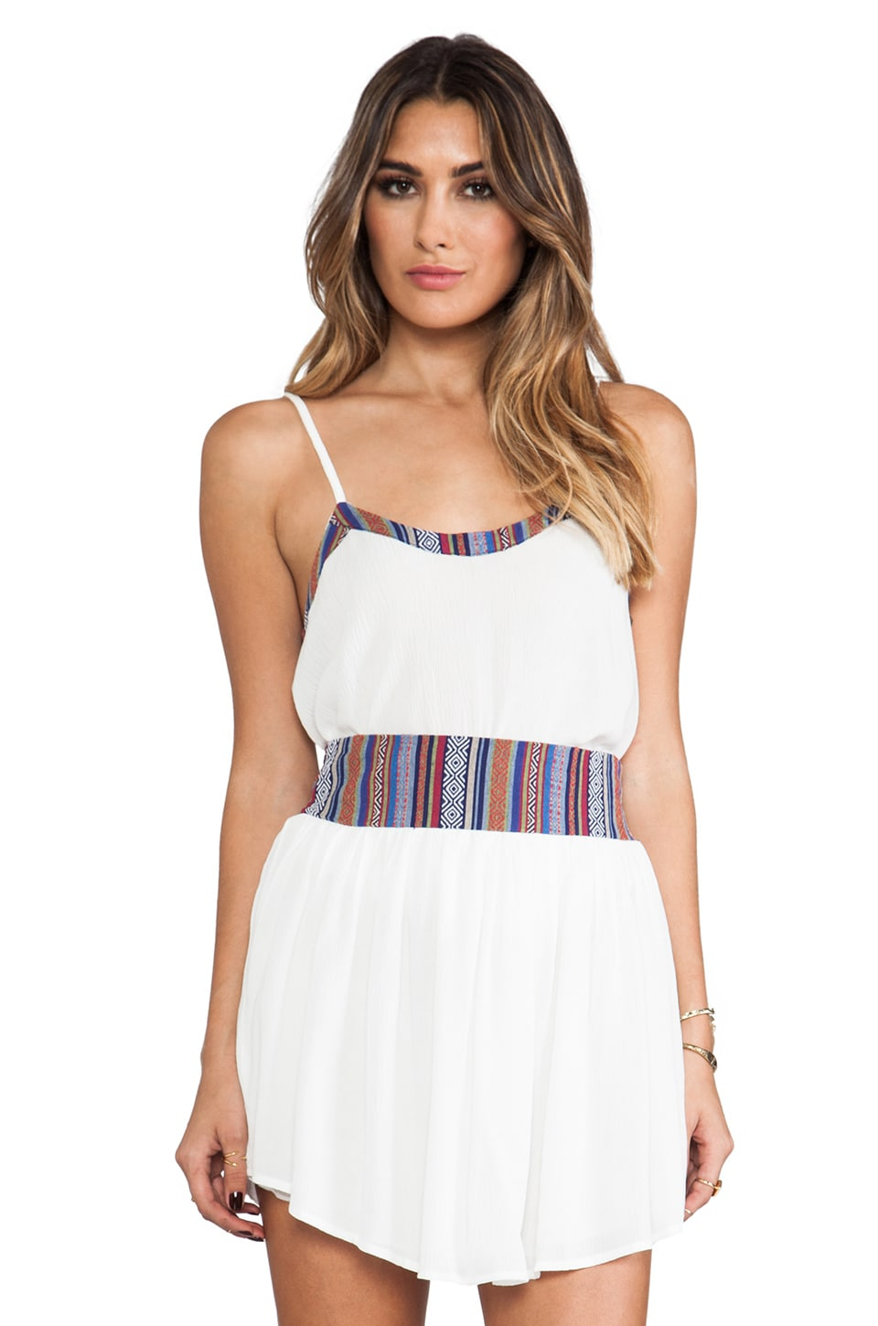 Surf Gypsy Tribal Crop Top in White