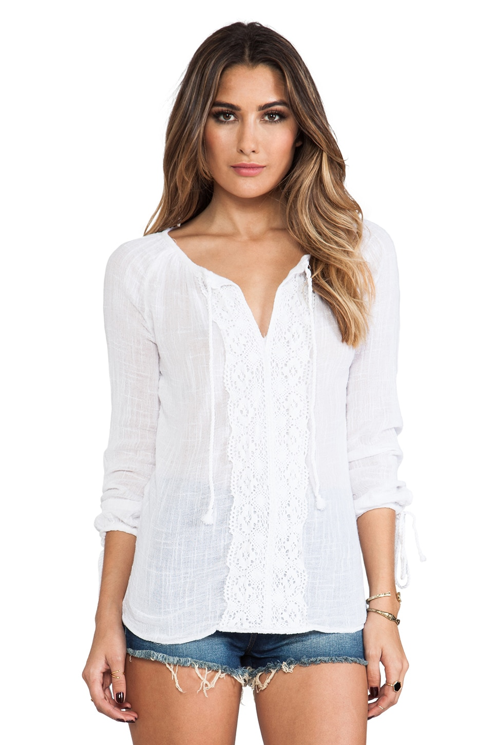 Surf Gypsy Crochet Tunic in White