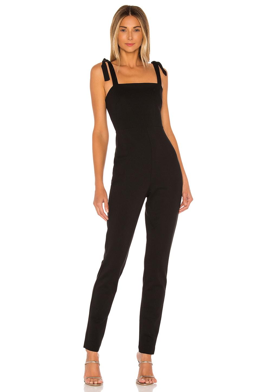 Susana Monaco Tie Strap Jumpsuit in Black