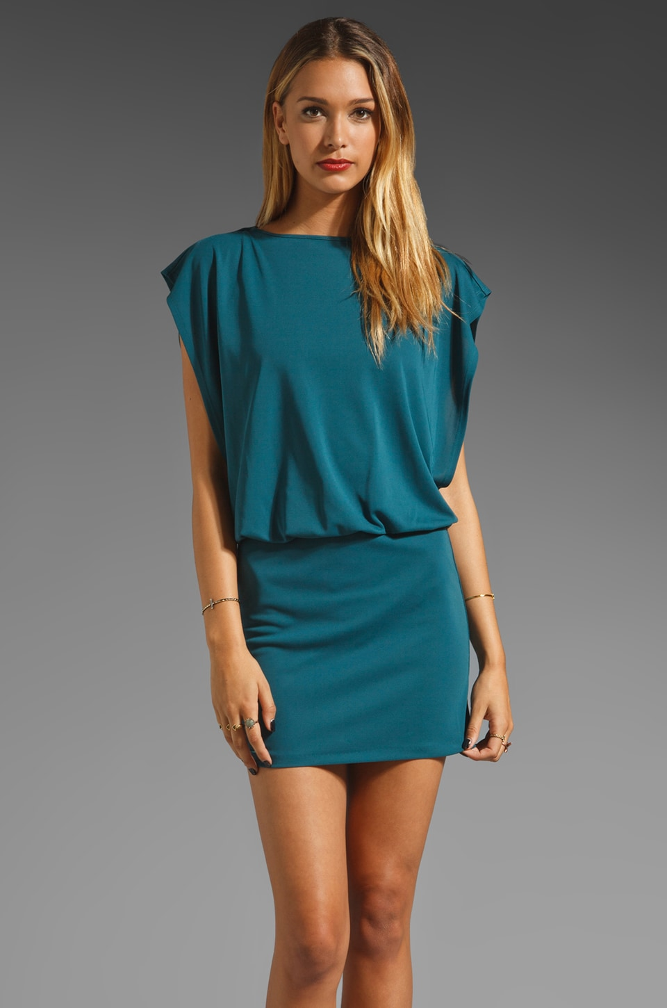 Susana Monaco Cadence Dress in Lagoon