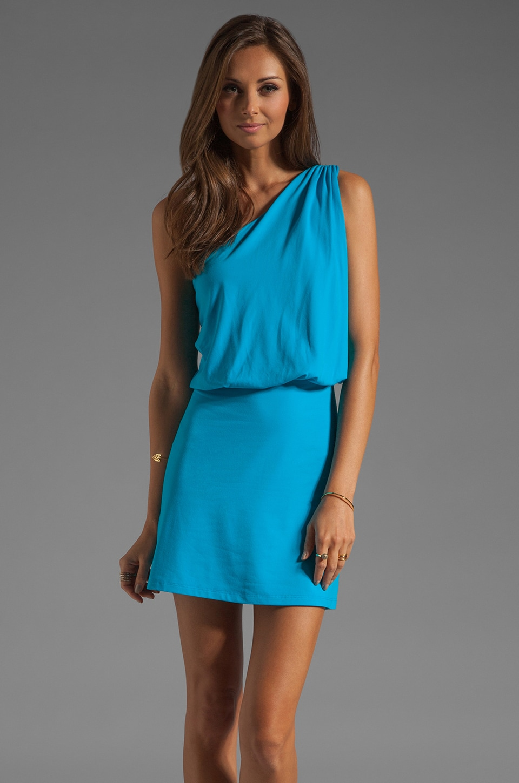 Susana Monaco Light Supplex Terry Dress in Atomic Blue