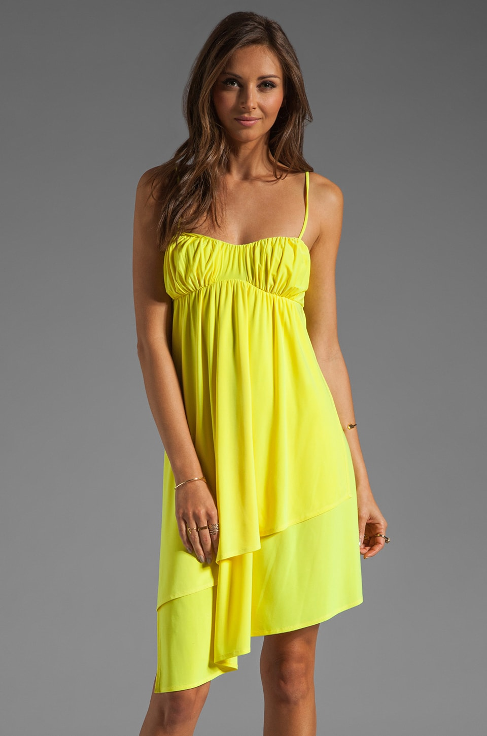 Susana Monaco Matte Knit String Dress in Glow