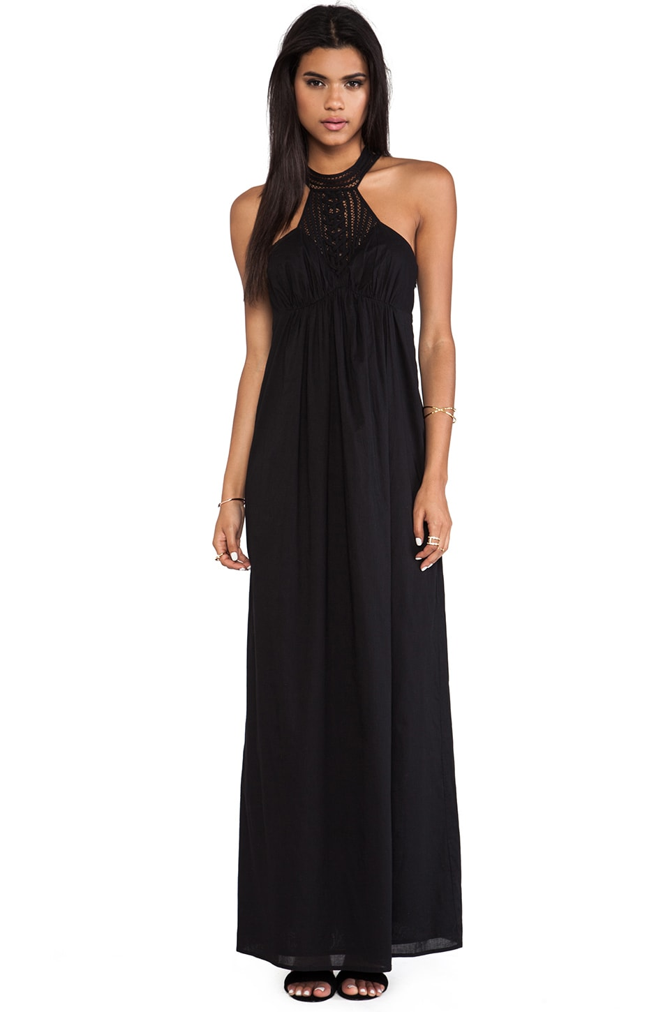 Susana Monaco Voile Josephine Maxi Dress in Black