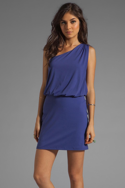 Susana Monaco Light Supplex Terry One Shoulder Dress in Iris