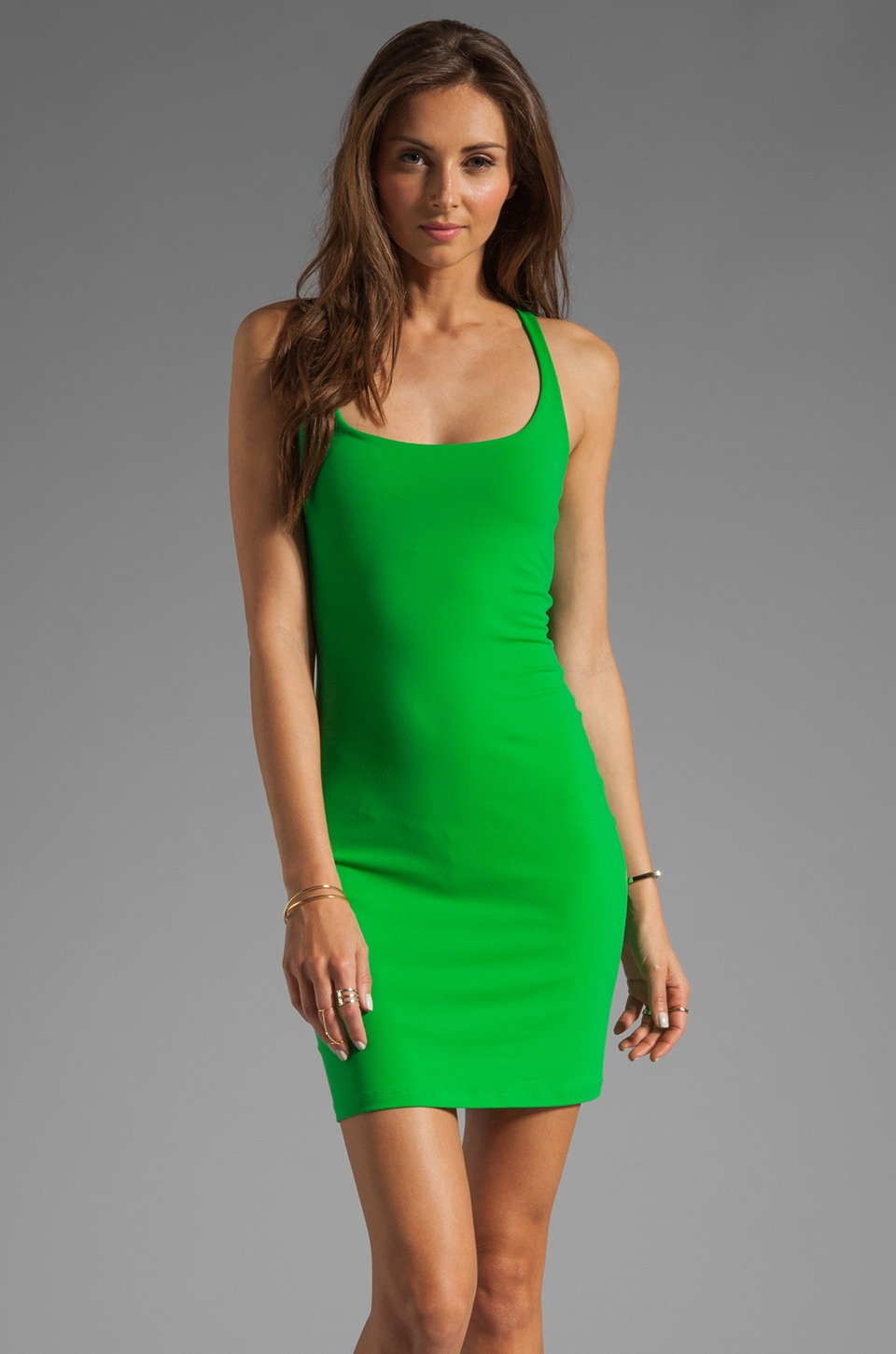 Susana Monaco Racer Mini Dress in Palm Tree