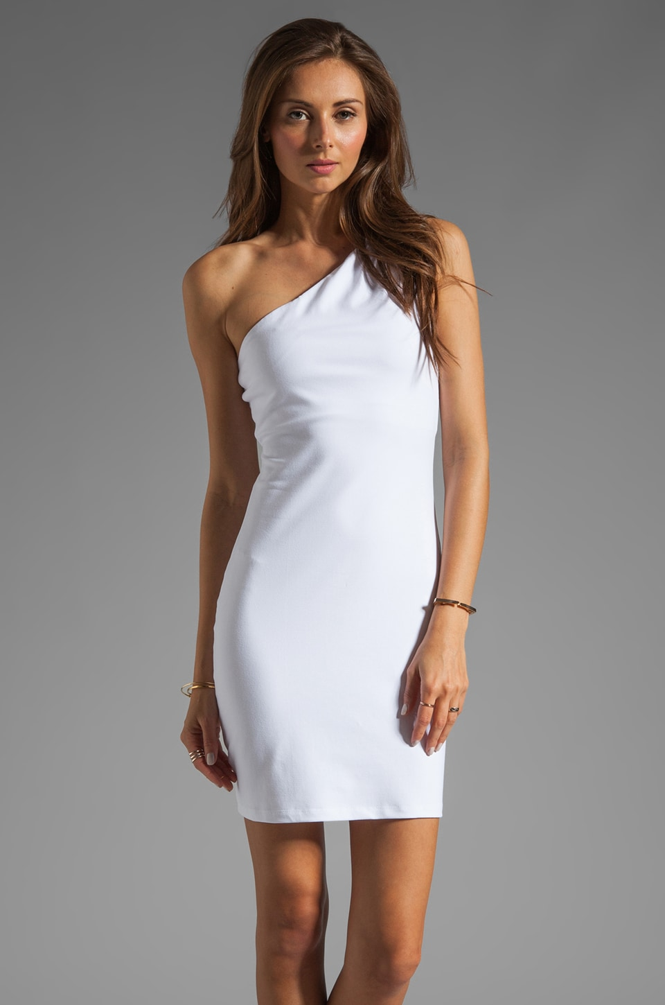 Susana Monaco One Shoulder Dress in Sugar