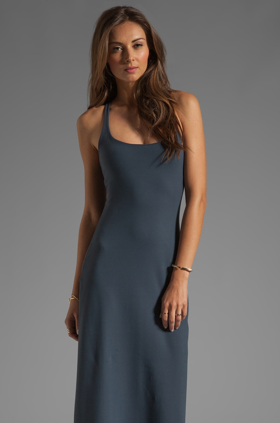 Susana Monaco Racer Maxi Dress in Charcoal