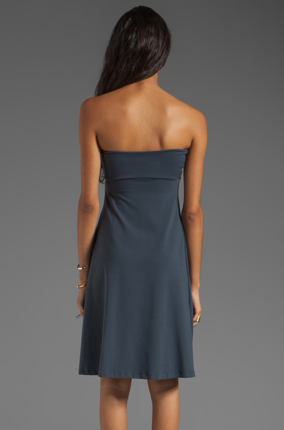 "Susana Monaco Tube 22"" Dress in Charcoal"