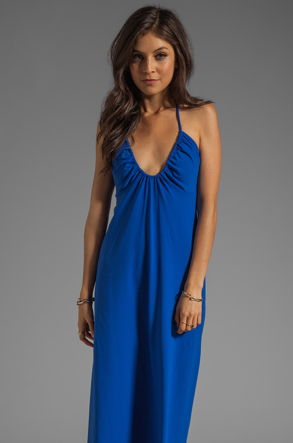 Susana Monaco U Gathered Dress in Lapis