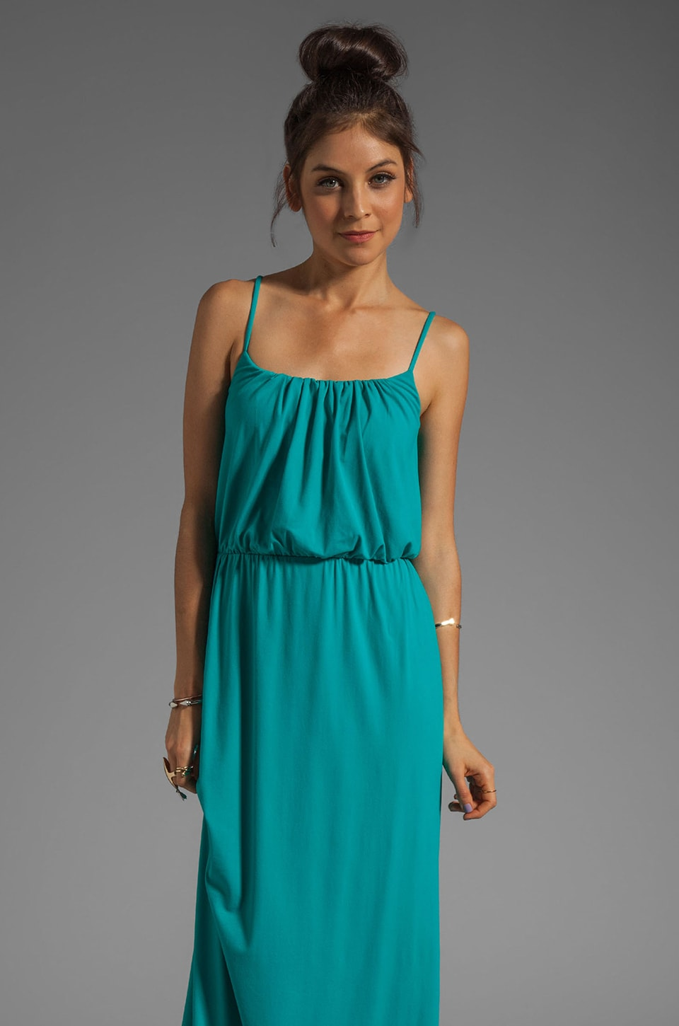Susana Monaco Light Supplex Blouson Tank Dress in Maldives
