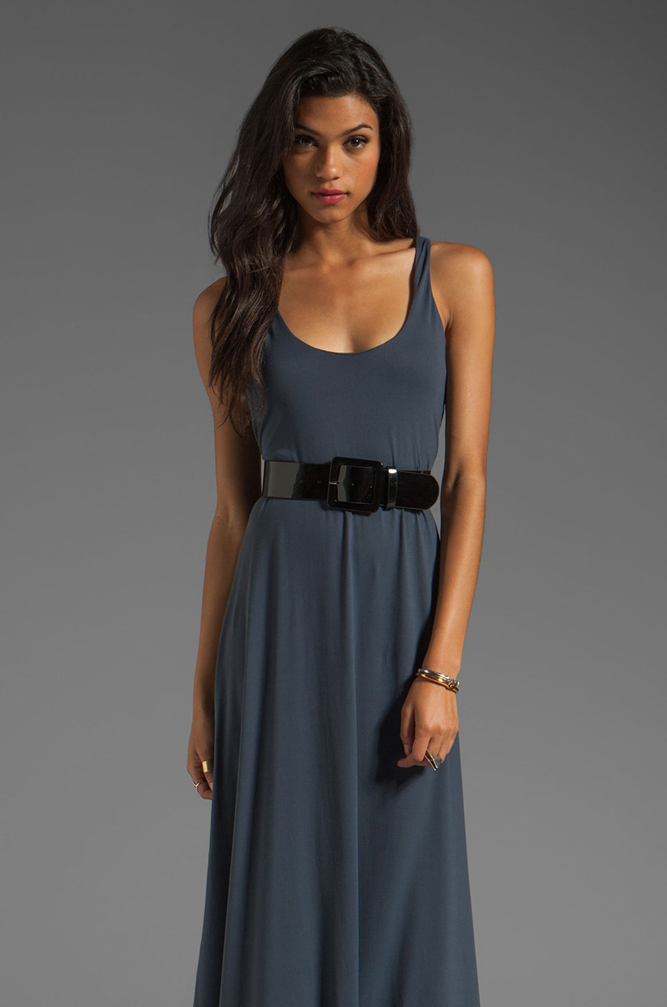 Susana Monaco Light Supplex Loni Dress in Charcoal