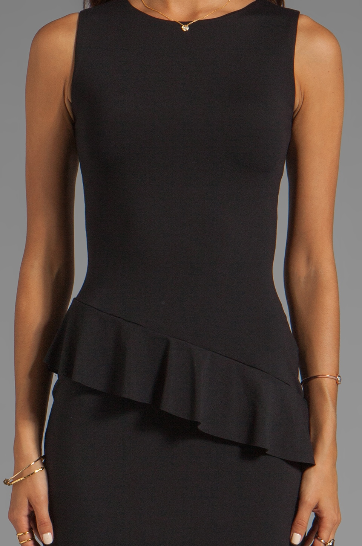 "Susana Monaco Asymmetric Ruffle 19"" Dress in Black"