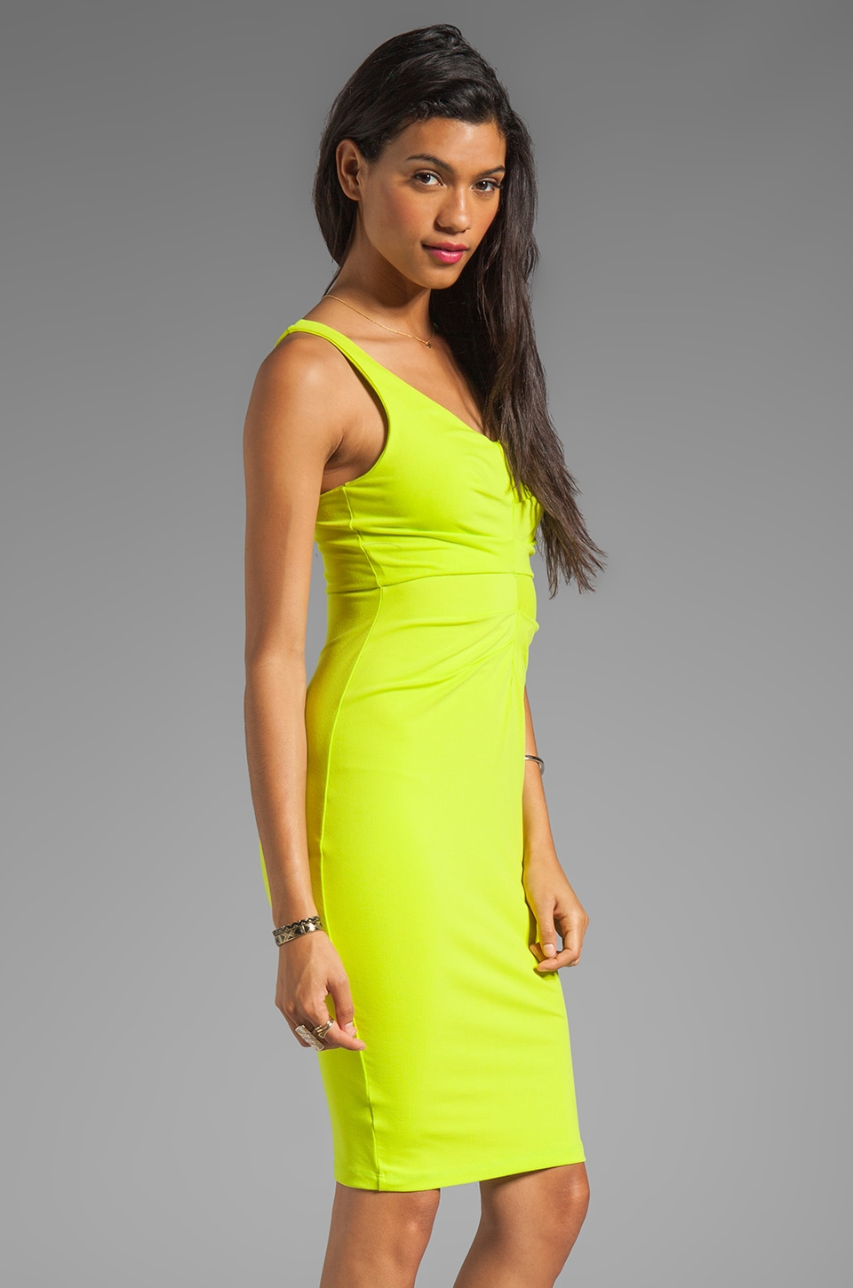"Susana Monaco Pleat Center 18"" Dress in Pomelo"