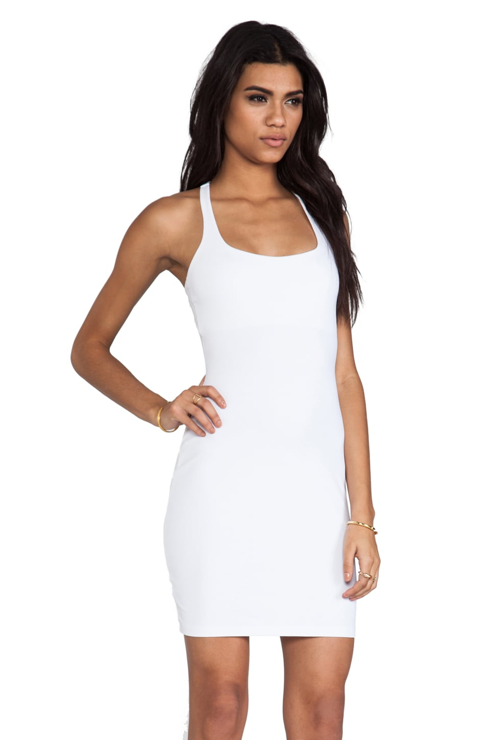 "Susana Monaco Racer Mini Dress 18"" in Sugar"