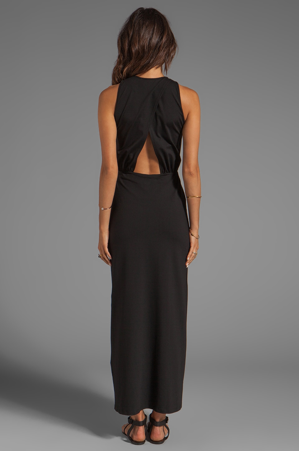 "Susana Monaco Madison Maxi 42"" Dress in Black"