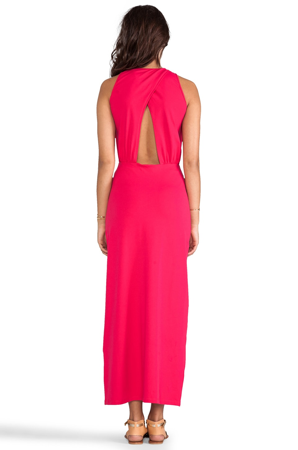"Susana Monaco Madison Maxi 42"" Dress in Hibiscus"
