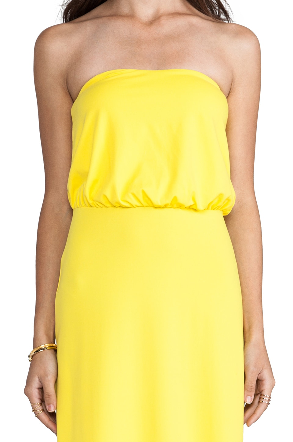 "Susana Monaco Light Supplex Blouson Tube 40"" Dress en Jaune"