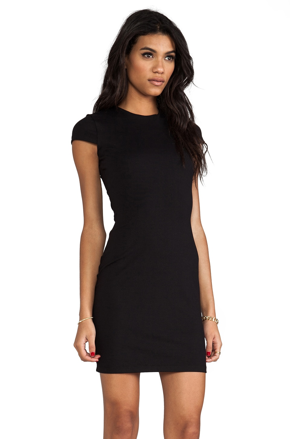 "Susana Monaco Crew 20"" Dress in Black"