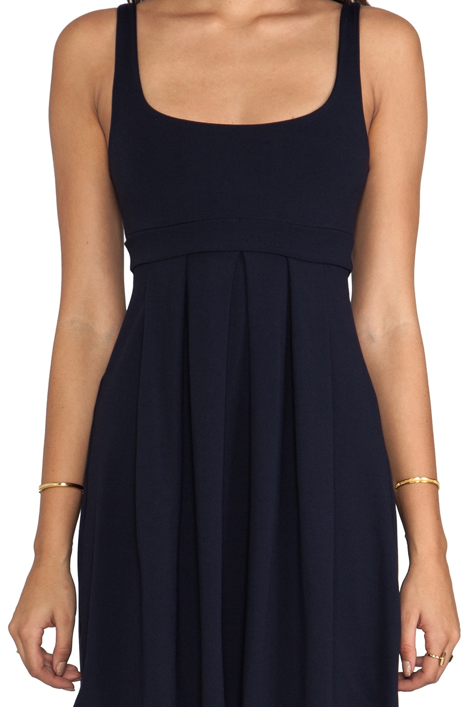"Susana Monaco Tank Pleat 19"" Dress in Midnight"