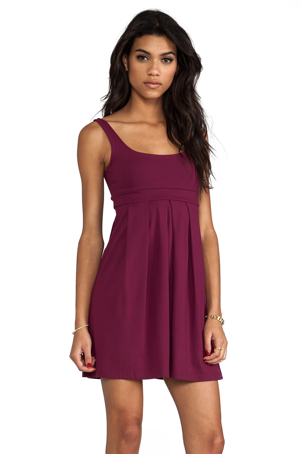 "Susana Monaco Tank Pleat 19"" Dress in Velvet"