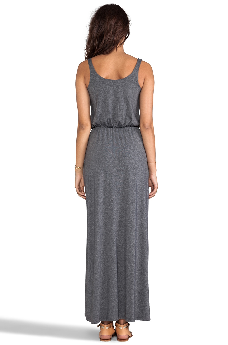 "Susana Monaco Melange Terri 42"" Dress in Gravel"