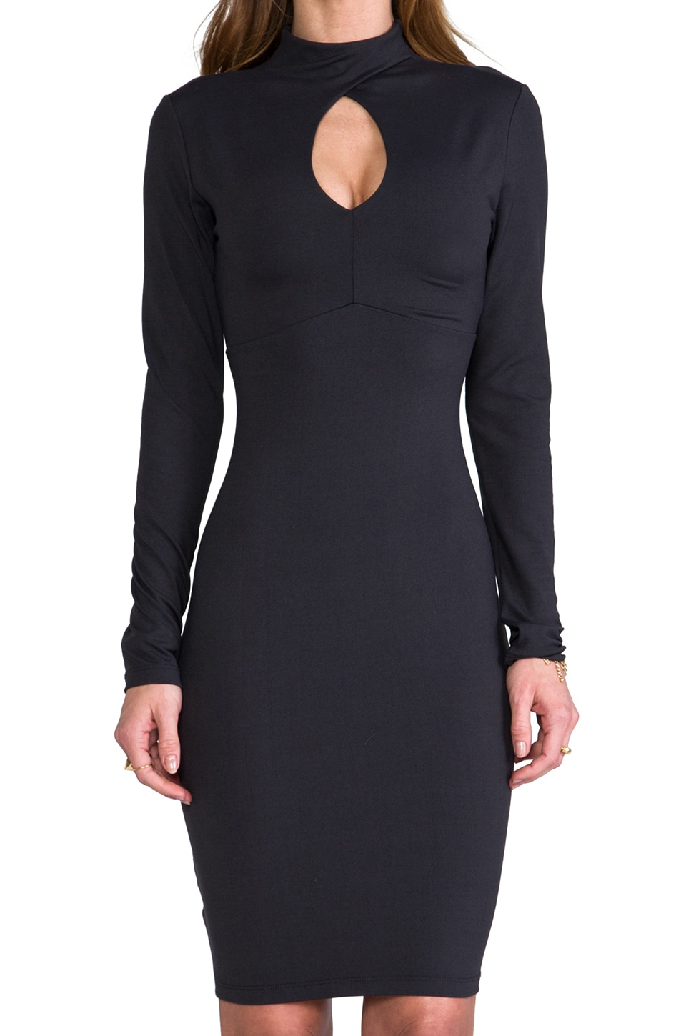 "Susana Monaco Tory 22"" Dress in Onyx"