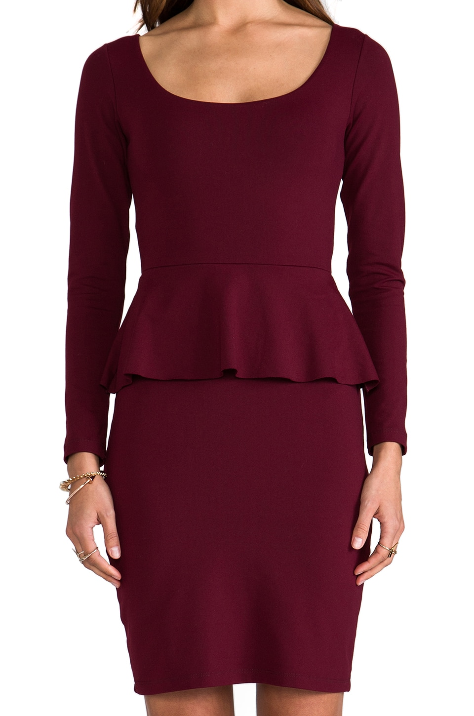 "Susana Monaco Catherine 22"" Dress in Oxblood"