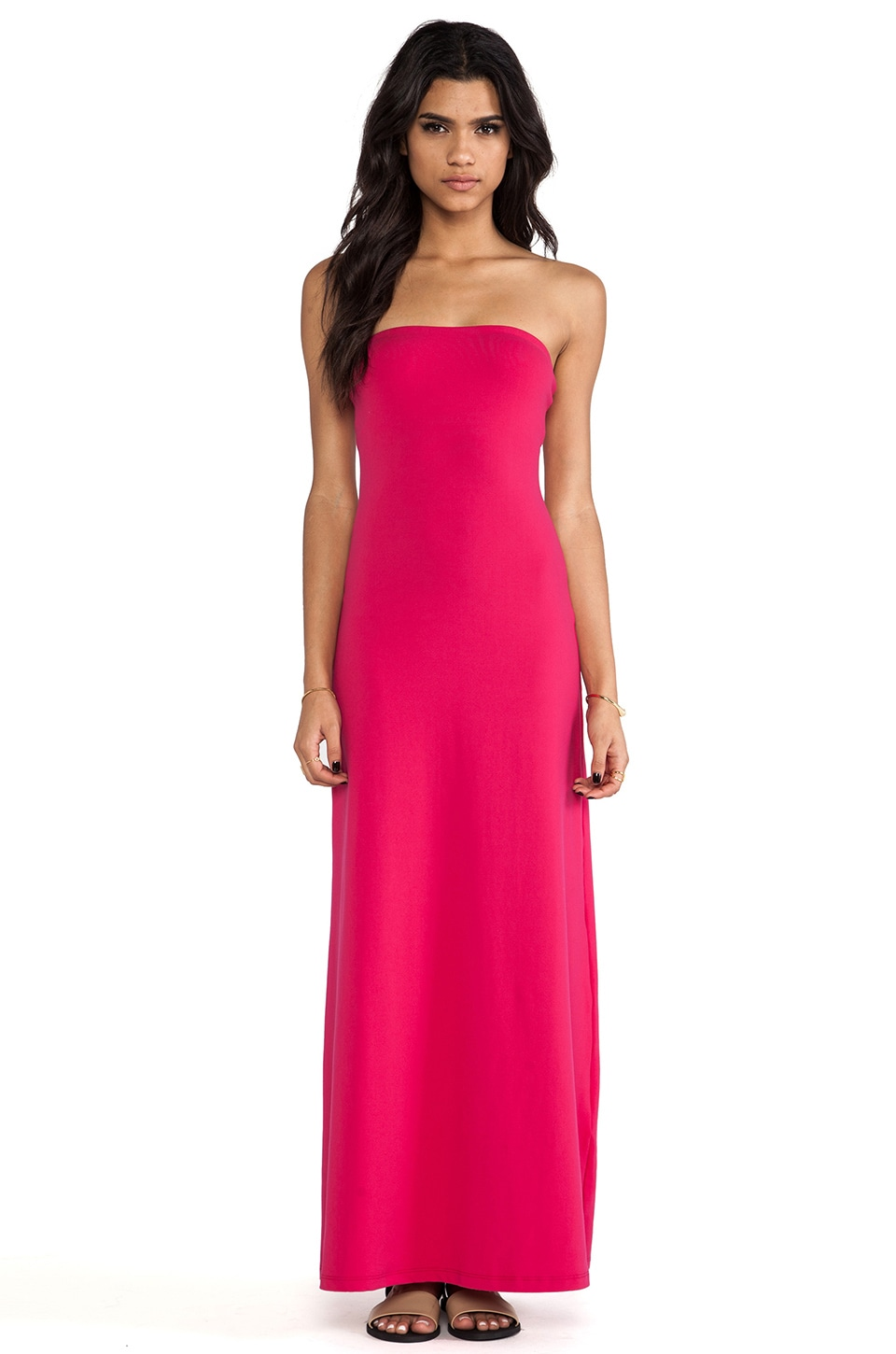 Susana Monaco Helena Strapless Maxi Dress in Wicked