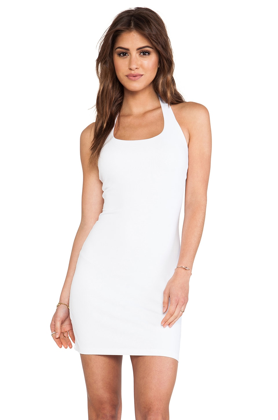 Susana Monaco Halter Mini Dress in Sugar